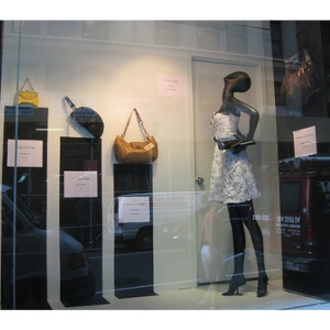 IHDA Winners' Bags in the NYC Fashion Center BID's Window Display