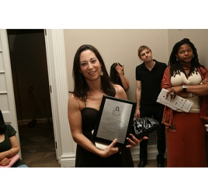 Selected Handbag Awards, Julie Lazarus of Elezar Julie and her IHDA plaque