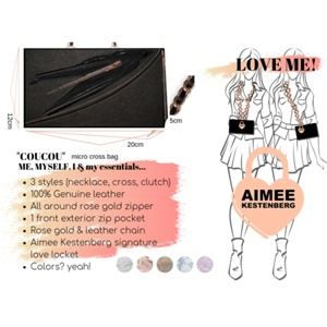 "Eda Lourdes  - The Aimee Kestenberg ""Self-Love"" Inspired Handbag"