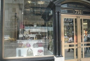 The IHDA finalists featured in the window of Henri Bendel.