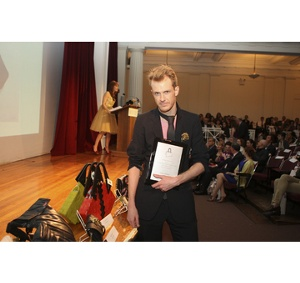 Winner of Best Green Handbag, Andres Stickney for Dres who will be creating a limited edition bag for Korres Natural Products.