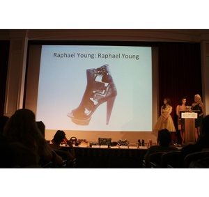 Winner of Best Shoe in Overall Style and Design, Raphael Young for Raphael Young.