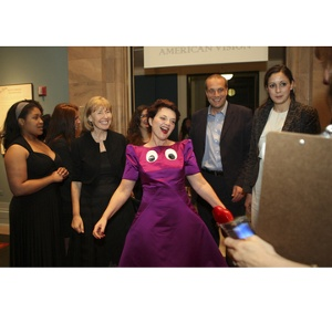 Lulu Guinness, her team and Jayne Harkness of Isaac Mizrahi