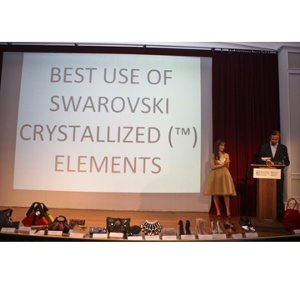 Oliver Bootman of Swarovski presenting the Best Use of Crystallized(tm) - Swarovski Elements.