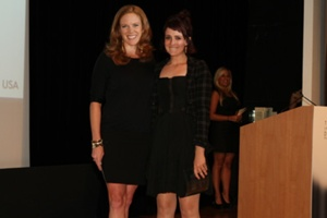 Mauren Cerise of Handbags.com & Winner, Krystal Sokolis""