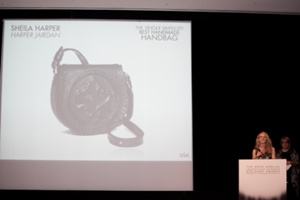 Sheila Harper of HarperJarden, Winner of the Singer Simplicity Best Handmade Handbag""