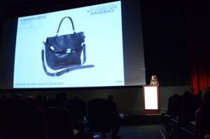 Winner, The charming charlie Best Student Made Handbag, Carmen Ortiz of LINOZA