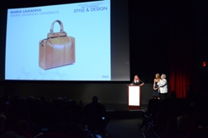 Winner of the Best Handbag in Overall Style and Design, Maria Lamanna