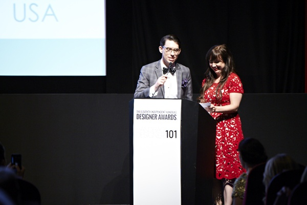 Bernina Gayle Shleiman with IHDA Winner Christopher Belt